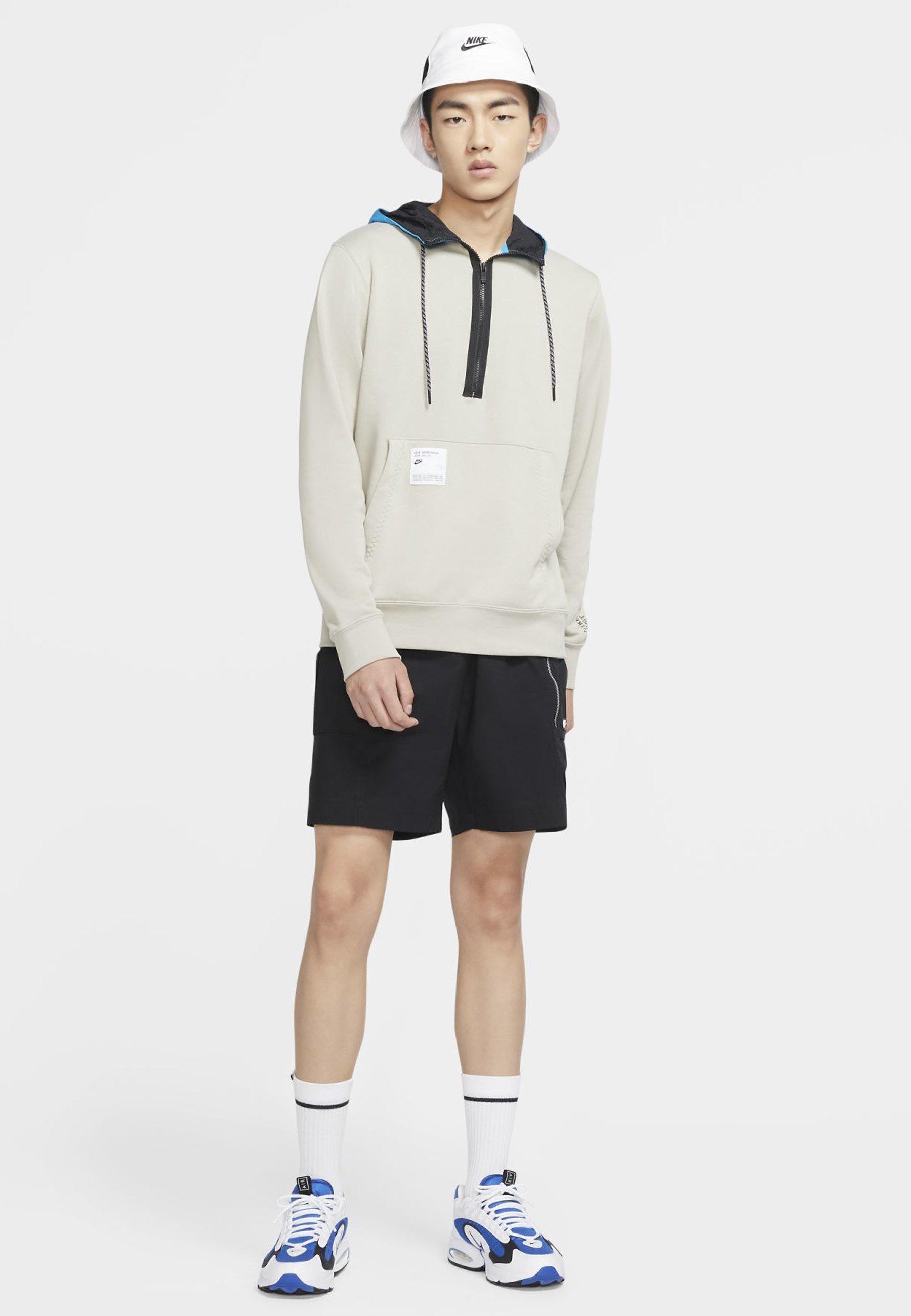 Nike Sportswear HOODIE - Sweat à capuche - stone/laser blue