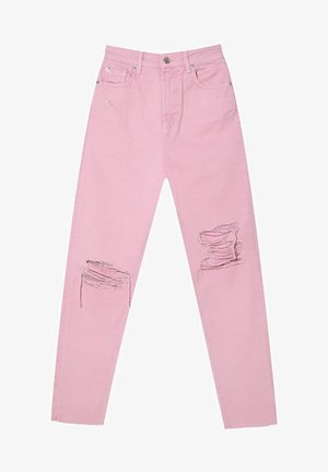 MOM FIT - Straight leg jeans - pink