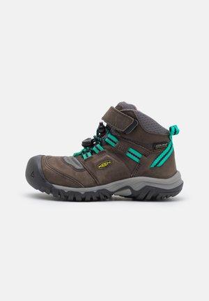 RIDGE FLEX MID WP UNISEX - Hiking shoes - magnet/greenlake