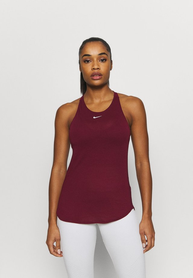 AEROADAPT TANK - T-shirt de sport - dark beetroot/metallic silver