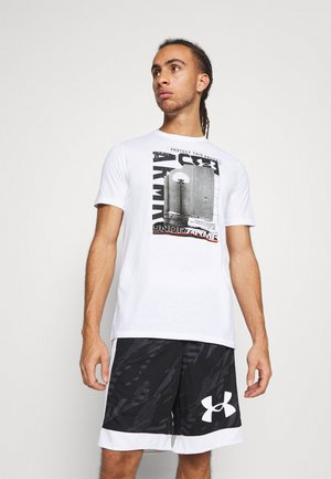 BASKETBALL PHOTOREAL - T-shirt print - white