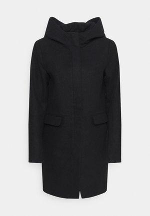 ONLOLIVIA HOODED COAT - Zimní kabát - black