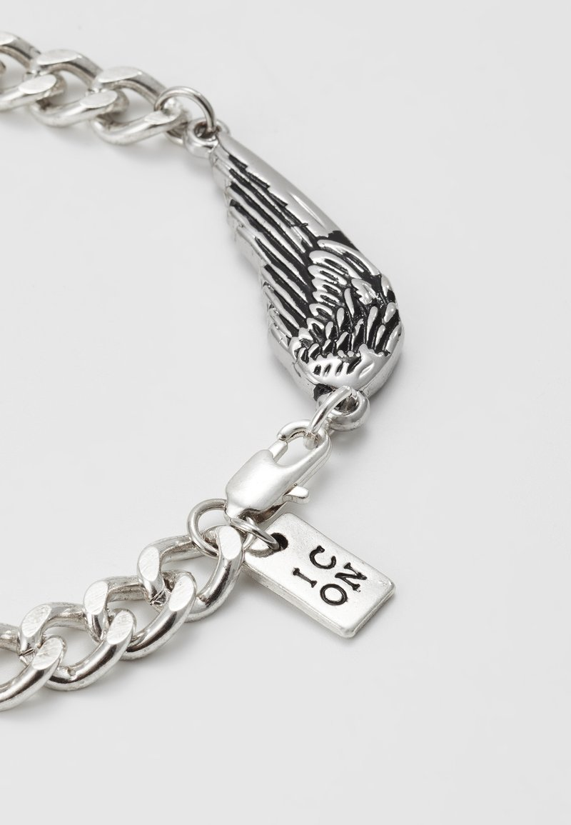Icon Brand - WING CHARM BRACELET - Bracelet - silver-coloured