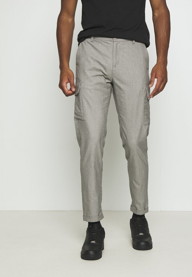 CLUB PANTS - Tygbyxor - grey melange