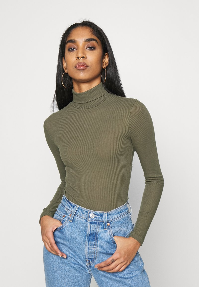 Pieces - PCPIPPI LS ROLLNECK TOP - Long sleeved top - sea turtle