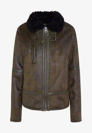 BERTA - Faux leather jacket - waldgrün