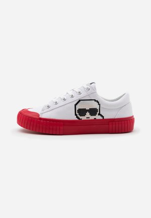 KAMPUS PIXEL LACE - Sneaker low - white/red