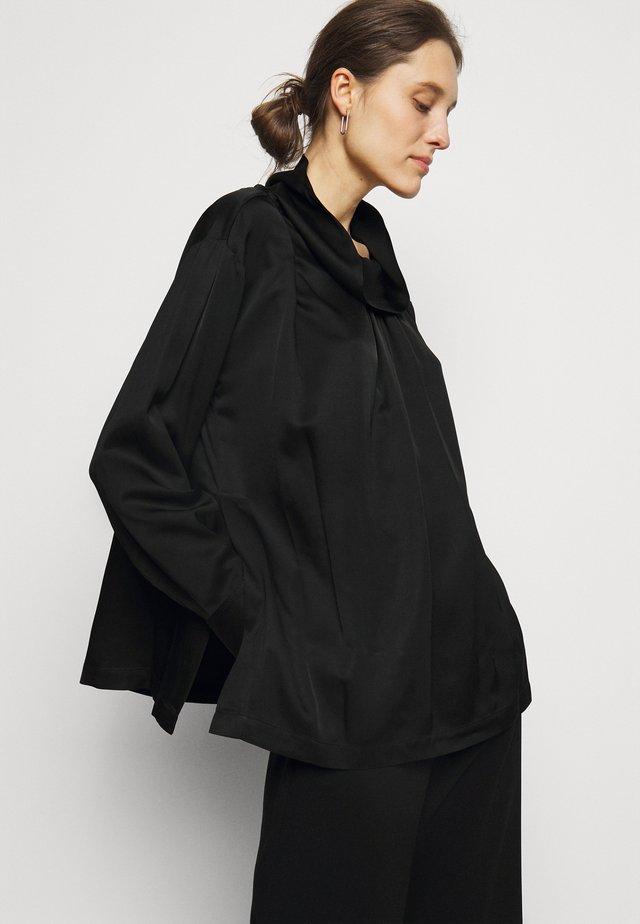 OVERSIZED DRAPE COLLAR  - Blouse - black