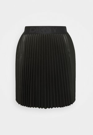 MINI PLEATED SKIRT - A-line skirt - black