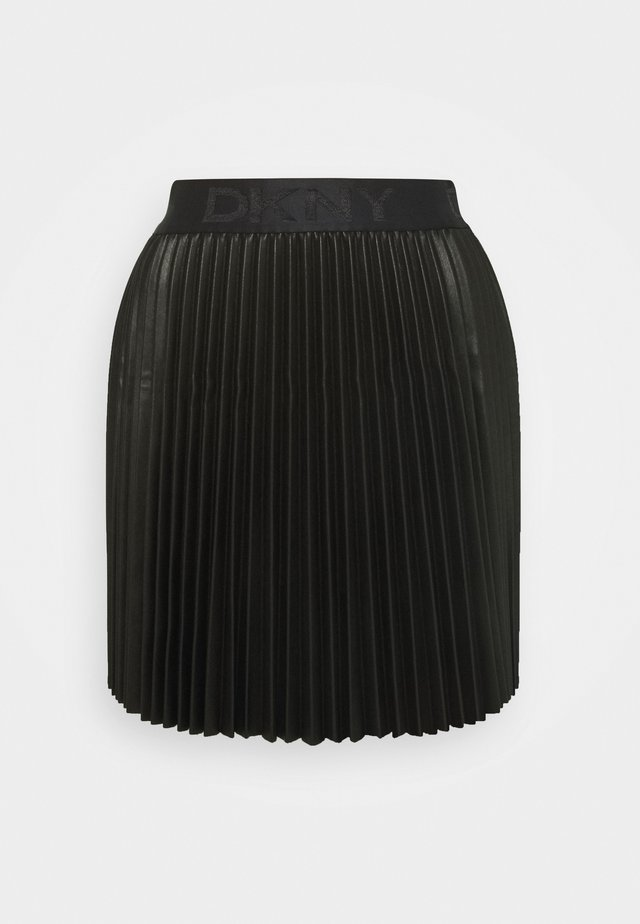 MINI PLEATED SKIRT - A-snit nederdel/ A-formede nederdele - black