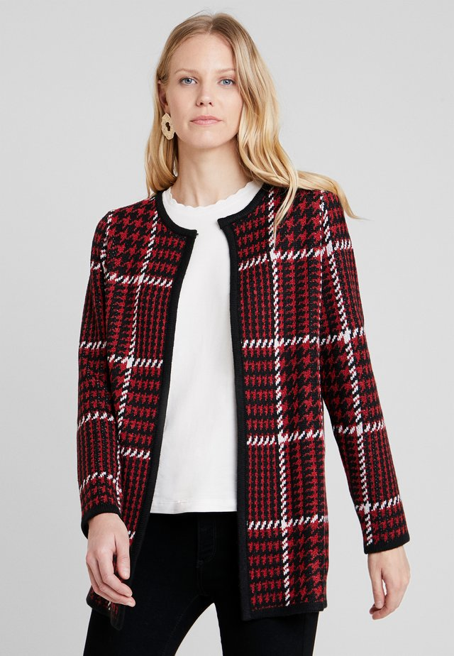 Cardigan - red/black/offwhite