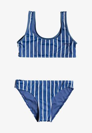 Bikini - moonlight blue kuta stripes