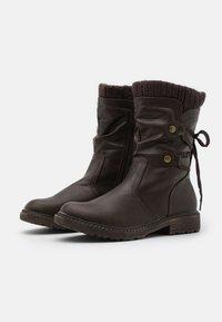 Anna Field - Snørestøvler - dark brown - 2