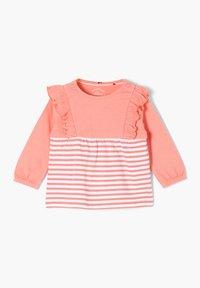 s.Oliver - MET RUCHES - Long sleeved top - light pink stripes - 2