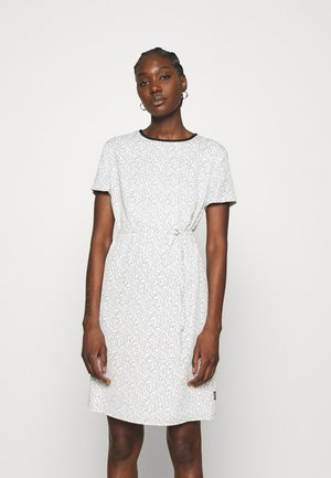 SHORT SLEEVE SHIFT DRESS - Day dress - beige