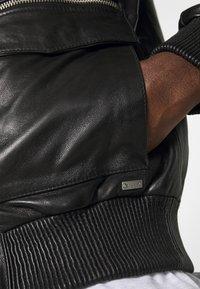 Tigha - DELMORE - Leather jacket - black - 5