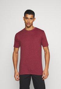 Denim Project - 5 PACK  - T-shirt - bas - olive night melange/bordeaux melange - 4