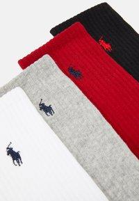 Polo Ralph Lauren - CREW 6 PACK - Socks - black/red/navy/charcoal - 2