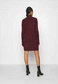Vero Moda - VMLUCI ROLLNECK DRESS - Jumper dress - winetasting - 2
