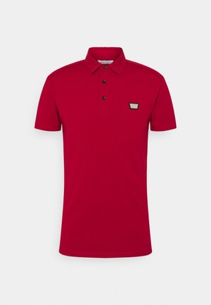 PLATE ON FRONT - Poloshirt - rosso