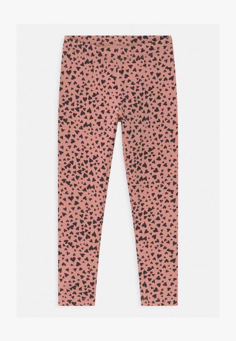 Lindex - HEART - Leggings - Trousers - dusty pink