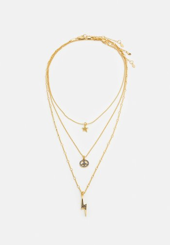 TRIPLE LAYER PENDANT NECKLACE MIXED CHARMS 3 PACK - Necklace - gold-coloured