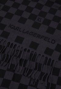 KARL LAGERFELD - SCARF UNISEX - Scarf - black - 3