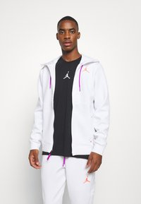 Jordan - AIR FULL ZIP - Sweatjacke - white/vivid purple/infrared - 0