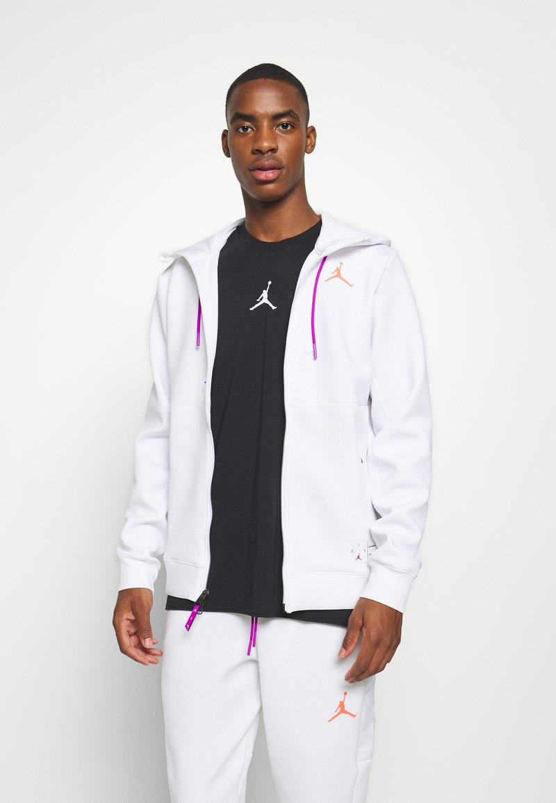 Jordan - AIR FULL ZIP - Sweatjacke - white/vivid purple/infrared