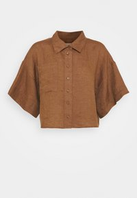 Gina Tricot - WELLIE LINEN SHIRT - Button-down blouse - raw umber - 0