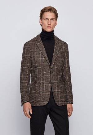 NOLVAY - Blazer jacket - dark brown