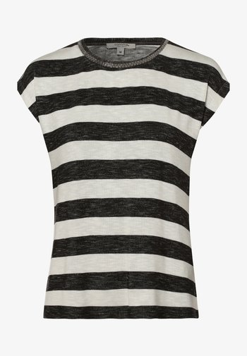 Print T-shirt - schwarz ecru