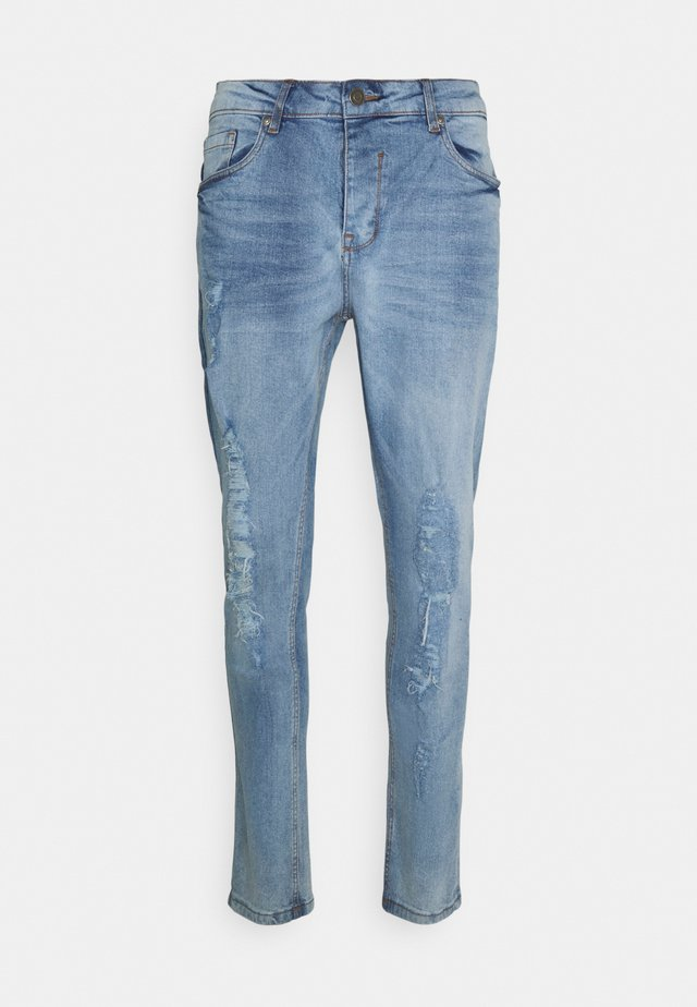 DISTRESSED RIP - Jeans a sigaretta - blue