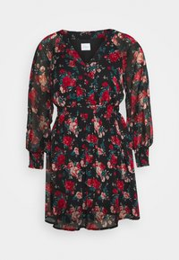 VIBROOKLY DRESS PETITE - Denní šaty - black/jester red