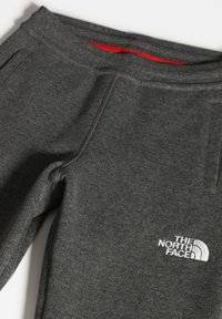 The North Face - Y FLEECE PANT - Tracksuit bottoms - tnfmediumgreyhtr/tnfwhite - 3