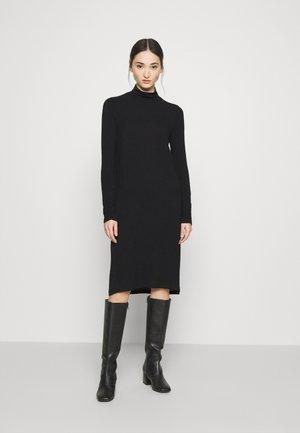 YASWOOLA HIGHNECK MIDI DRESS - Jersey dress - black