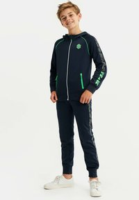 WE Fashion - MET CAPUCHON EN TAPEDETAIL - Zip-up hoodie - dark blue - 1
