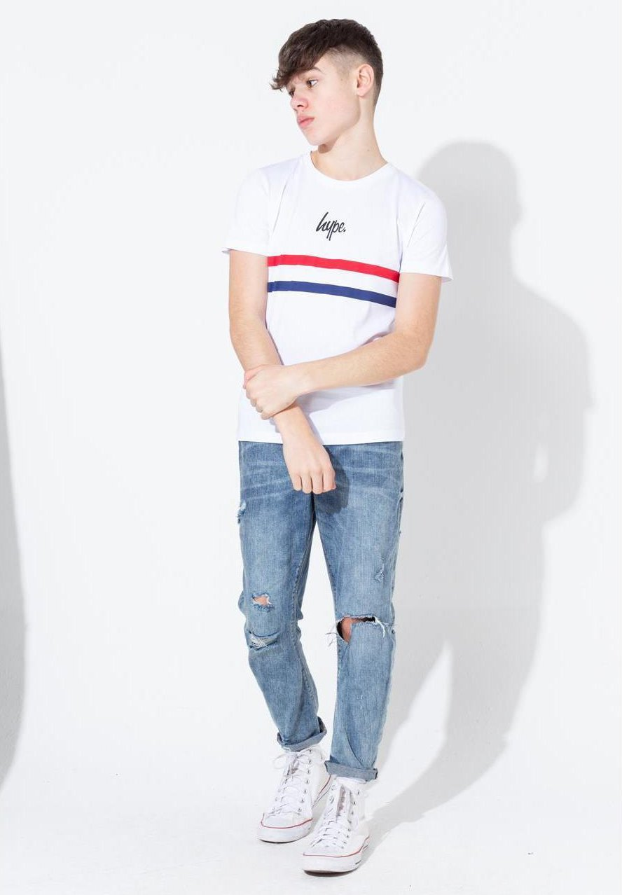 Große Förderung Hype SPORT STRIPE - T-Shirt print - white | Damenbekleidung 2020