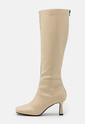 BEAU - Boots - cream/black