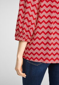 s.Oliver - Blouse - red zic zac stripes - 6