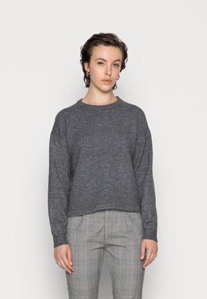 PCCINDY O NECK - Jumper - dark grey melange