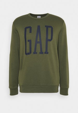 LOGO - Sweatshirt - army jacket green