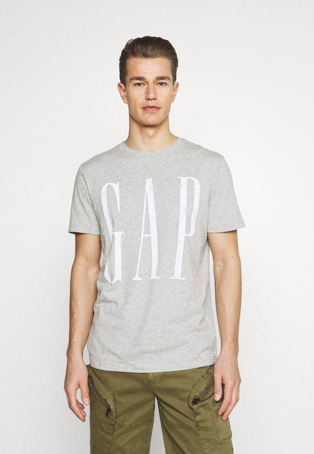 LOGO DISTRESS - T-shirt z nadrukiem - heather grey
