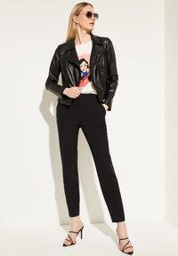 comma - Faux leather jacket - black - 1