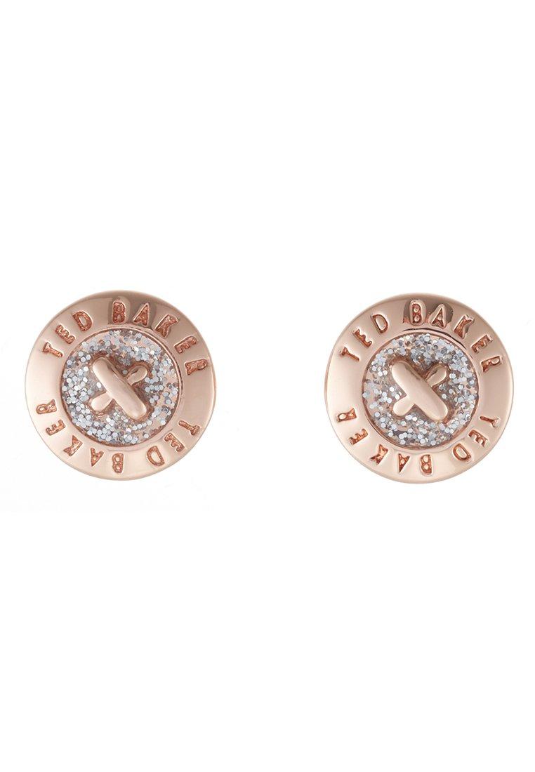 Ted Baker Eisley Enamel Mini Button Earring - Ohrringe Rosegold-coloured/silver Glitter/roségoldfarben