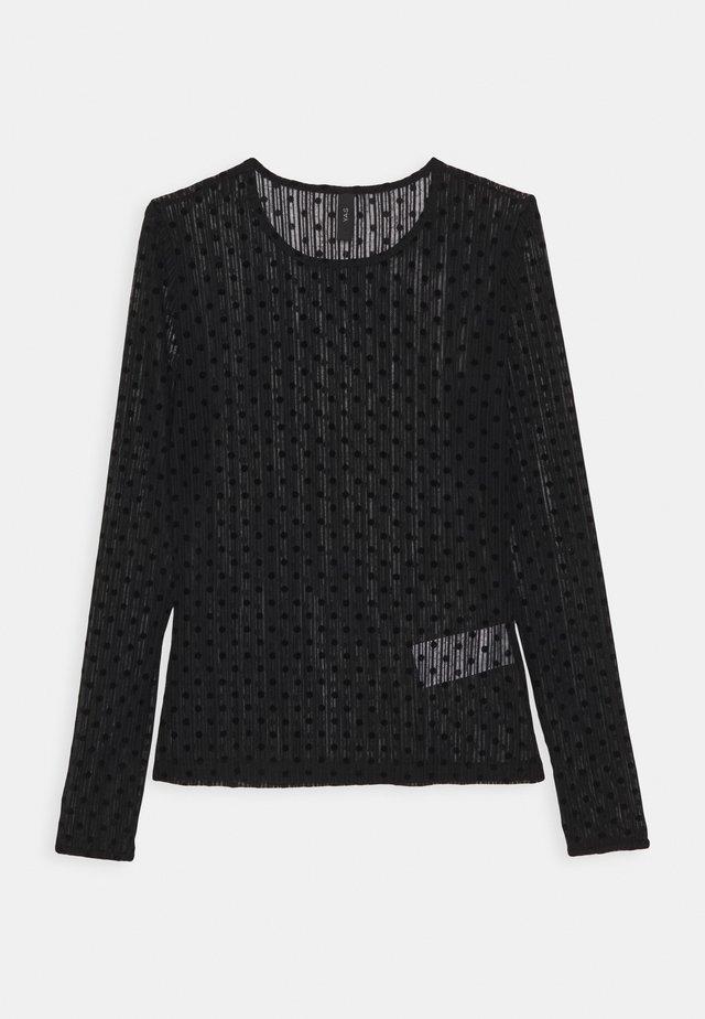 YASADELLA - T-shirt à manches longues - black