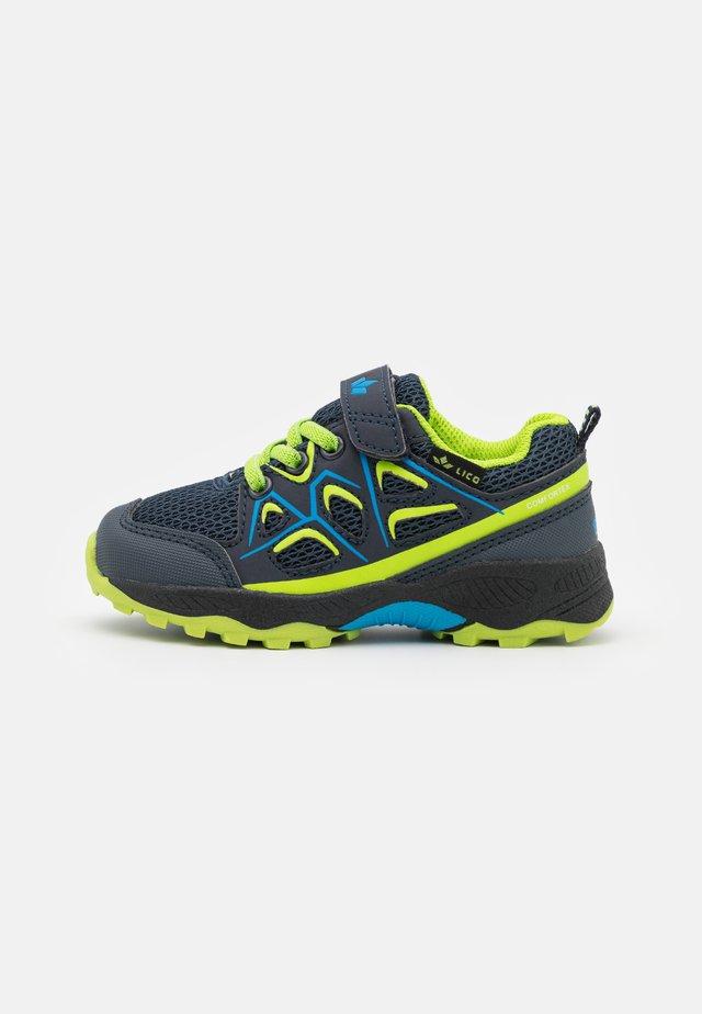 POSADAS - Sko med borrelås - marine/blau/lemon
