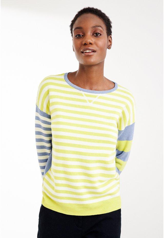 Pullover - grün mehrfarbig