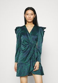 Who What Wear - WRAP OVER PARTY DRESS - Cocktail dress / Party dress - green - 0