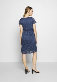 MAMALICIOUS - MLMIVANE TESS DRESS - Cocktail dress / Party dress - blue indigo - 2